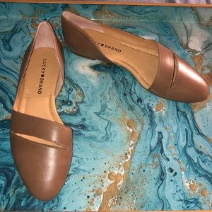 Lucky Brand Shoes - NWOT Lucky Brand Ashena Leather Ballet Fla…